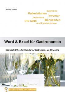 Cover Word und Excel für Gastronomen